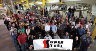Group of Super Steel employees