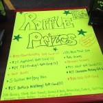 Raffle Prizes Sign