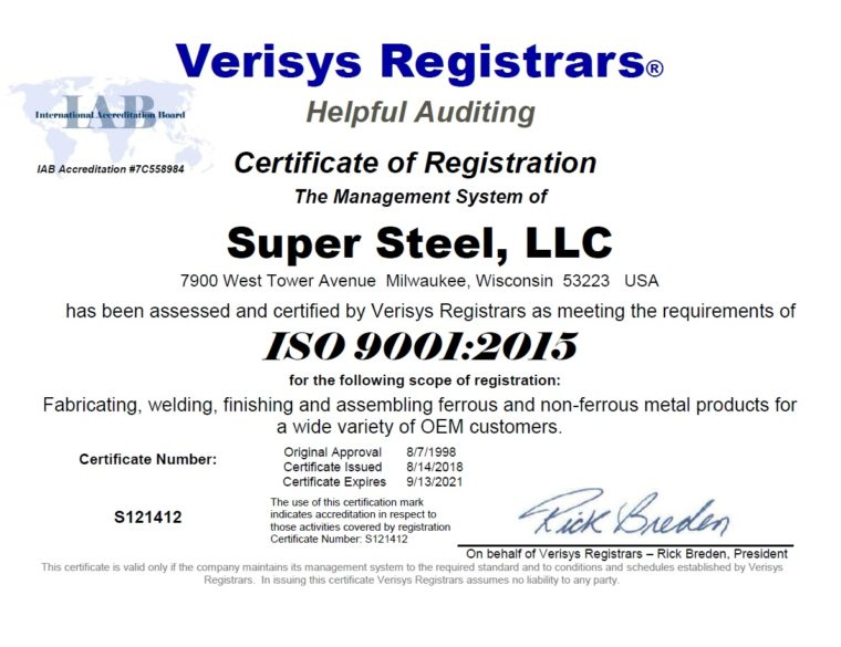 ISO Registration Certificate